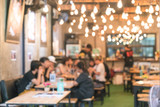 Blur coffee shop or cafe restaurant with abstract bokeh light im - 129734600
