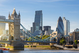 Financial District of London and the Tower Bridge - 129753450