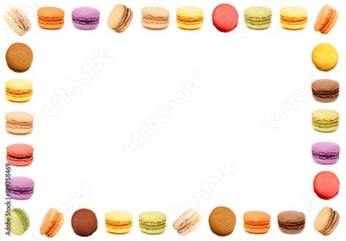 Deurstickers Macarons Macarons / cadre rectangle