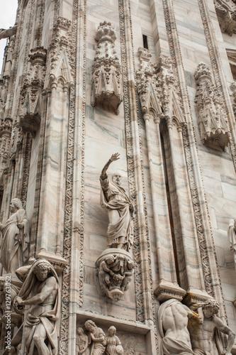 Foto op Canvas Milan detail of Duomo di Milano