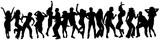 Fototapety happy dancing people