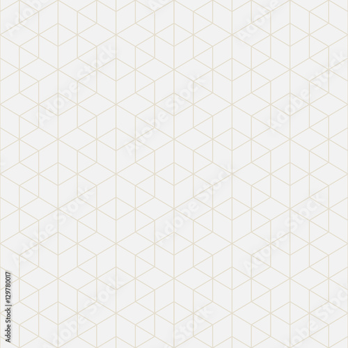 Abstract geometric background with intersecting lines. Seamless vector pattern. Light backdrop. - 129780017