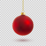 red christmas ball vector illustration