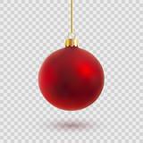 red christmas ball vector illustration - 129795604