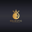 Majestic logo. Royal lion logotype