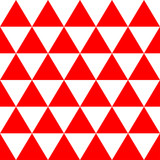 Red White Triangle Background. Vector Illustration. Christmas Seamless.