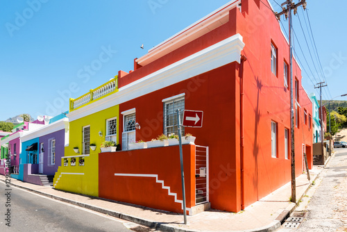 Staande foto Afrika Colorful Bo-Kaap area of Cape Town