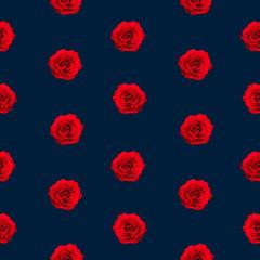 8 bit red rose pattern on dark blue