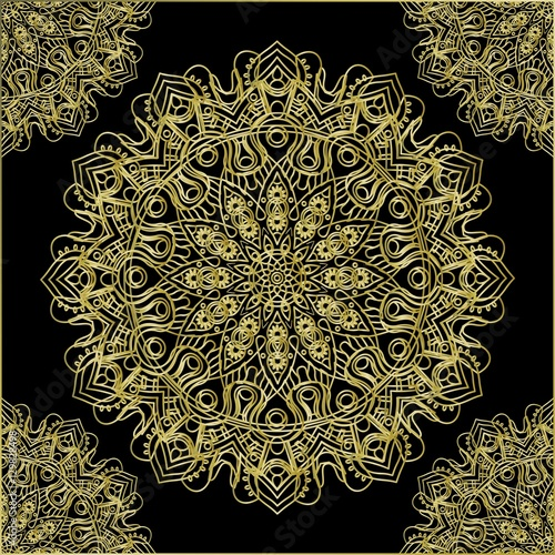 Mandala in Gold - 129828498