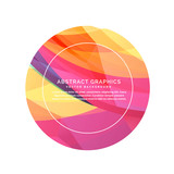 colorful abstract circle background - 129878476