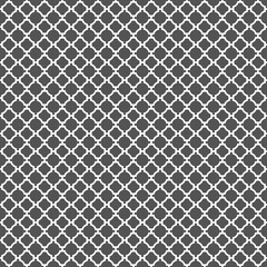 Seamless Vintage Geometric Quatrefoil Lattice Pattern