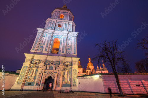 Poster Kiev, Ukraine: Saint Sophia Cathedral at night