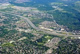 aerial view of Scarborough near the Toronto Zoo and highway 401, Ontario Canada