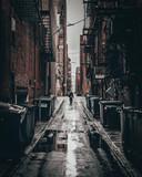 Fototapety Dark alley in Boston, Massachusetts.