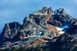 Squamish, BC, Canada - Sept. 22, 2016:  Views of Ledge, Sky Pilot (2031m), Co-Pilot Mountain peaks, and the Stadium Glacier.