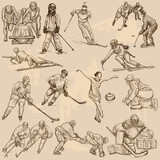 Winter sports, mix - An hand drawn vector collection - 129959005