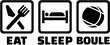 Eat sleep boule icons - 129982279