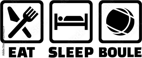 Eat sleep boule icons
