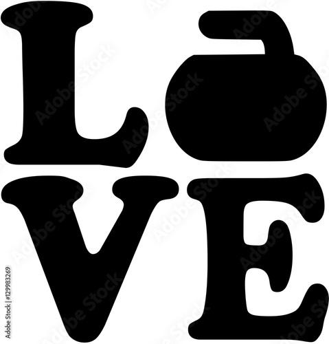 Fototapeta Love word with curling rock