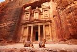 Al Khazneh - the treasury, ancient city of Petra, Jordan - 129987070