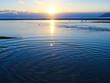 Quadro 河口の夕日 雪景色