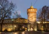 Florianska gate tower in the morning, Krakow, Poland - 130066862