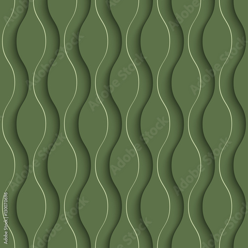 3D Seamless Pattern in Kale Color. - 130070696