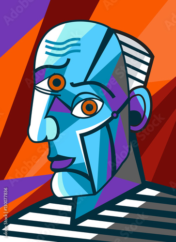 cubist great painter face portrait painting © matiasdelcarmine