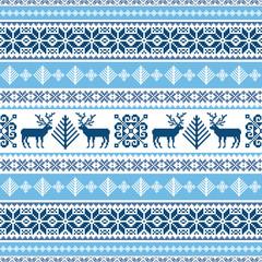 Traditional ornamental blue sweater pattern