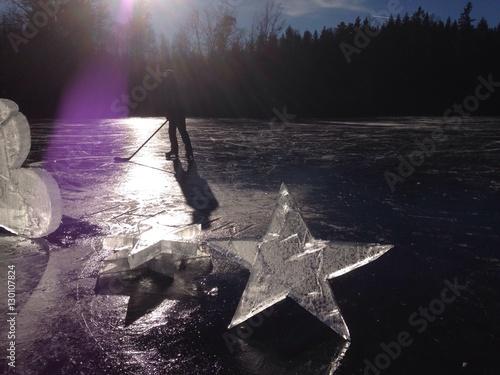 Eishockey auf dem See Poster