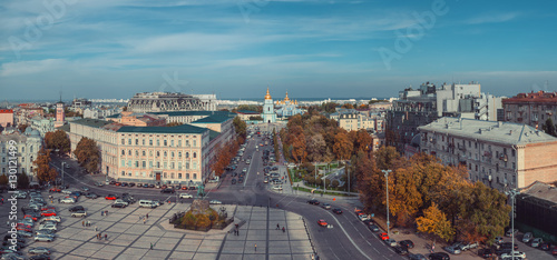 Foto op Canvas Bedehuis View of Sophia Square. Kiev, Ukraine