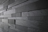 détail revêtement mur noir en relief - 130125817