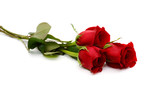 red rose bouquet isolated on white background - 130134889