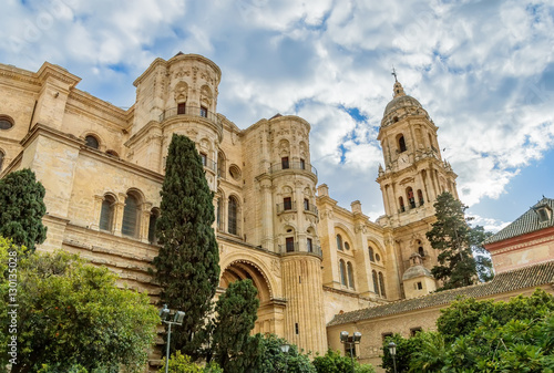 Malaga Cathedral in Andalusia, Spain