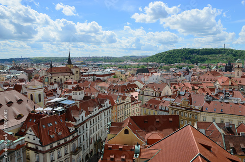 Prague old town: view from above