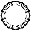 Badge, seal element. Contour of circular certificate, medal - 130142841