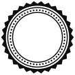 Badge, seal element. Contour of circular certificate, medal - 130142856
