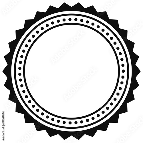 Badge, seal element. Contour of circular certificate, medal - 130142856