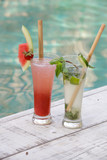 Summer fruity cocktail drinks  - 130162874
