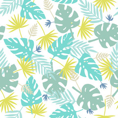 Exotic leaves pattern.