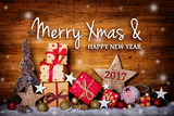 Weihnachtskarte -  Merry Xmas and Happy New Year 2017