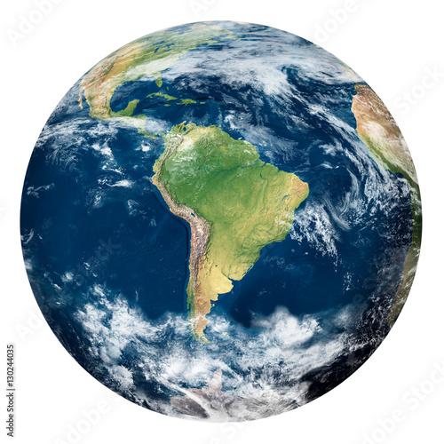 Plexiglas Planet Earth with clouds, South America - Pianeta Terra con nuvole, Sud America