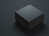 Black Box Mockup with textured cover. 3d rendering - 130250023