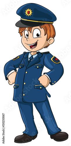 Vektor Illustration eines kleinen Polizisten