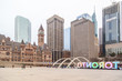 Nathan Phillips Square with the famous 'Toronto' sign in Toronto, canada.