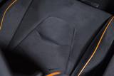 Sports car seat detail shot