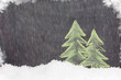 Christmas hand drawn fir tree