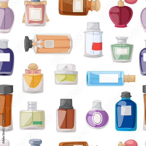 Materiał do szycia Perfume glamour seamless pattern vector.