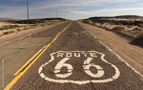 Poster Route 66 Rural Route 66 Two Lane Historic Highway Cracked Asphalt