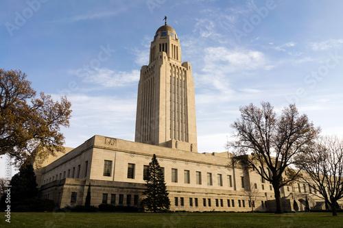 Lincoln Nebraska Capital Building Government Dome Architecture плакат